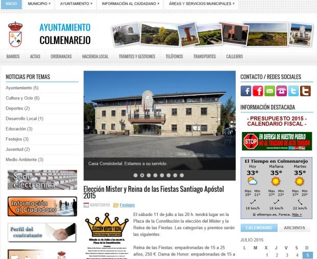 Web municipal Colmenarejo